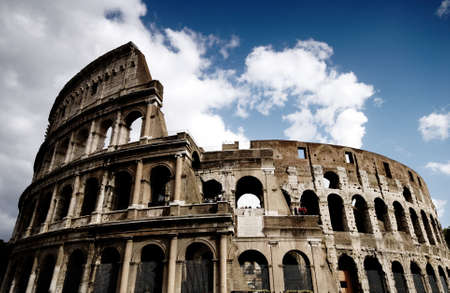 Coliseum in Rome, Italy on a beautiful summers day Stock Photo
