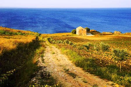 Beautiful european coastal scene Stock Photo