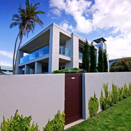 Exterior view of modern designer home