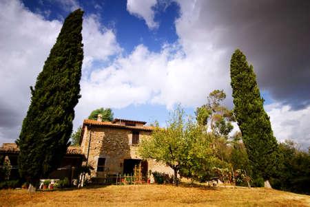 Classsic Italian house in Italy Stock Photo