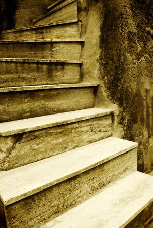 Old Italian stairway photo