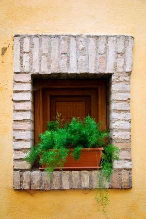 Old Italian windowsill, Italy photo