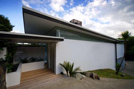 Modern, designer residential home Stock Photo
