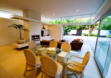 Modern interior of designer house