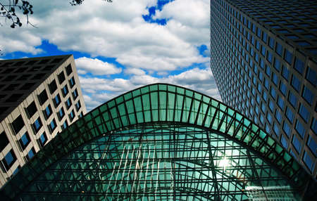 Buildings in Canary Wharf, London Stock Photo