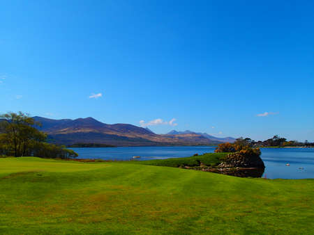 Golf course in Killarney with Lough Leane Lake in behind