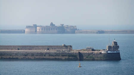 basse normandy: Fort Central, Cherbourg Harbour a harbour in France, is believed to be the second largest artificial harbour in the world.