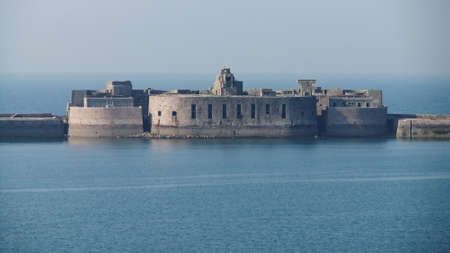 Fort Central, Cherbourg Harbour a harbour in France, is believed to be the second largest artificial harbour in the world.