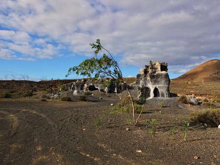 volcanic stones: Guatiza teguis volcanic stones at Lanzarote Canary Islands, Spain