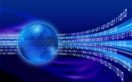 世界世界中のバイナリ情報の流れ
