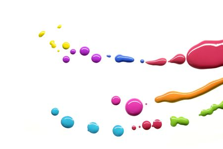 printing industry: Drops of different paint colors