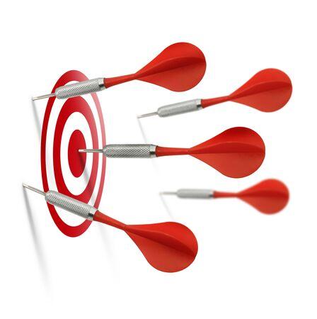 S�lo uno de cinco dardos rojos sucede a golpear el objetivo correcto