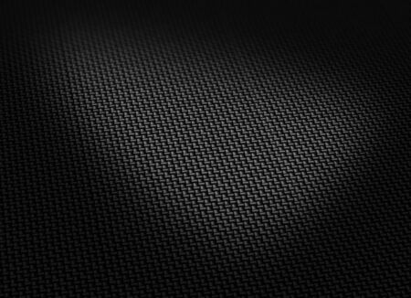 dark fiber: Black woven carbon fibre surface curved form horizontal Stock Photo