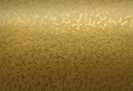 Golden floral Ornament Brocade Textile Muster