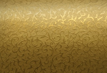 tissu or: Golden ornement floral brocade textile patron  Banque d'images