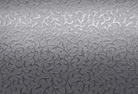 brocade: Silver floral ornament brocade textile pattern