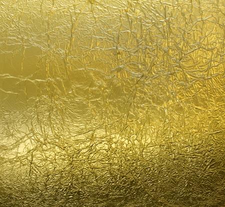 goldfolie: Faltige Leaf Blattgold Muster Textur Hintergrund