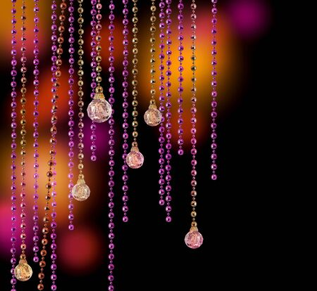 light chains: Purple and gold glitter glamour disco curtains