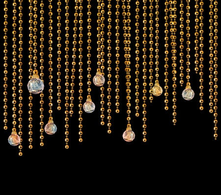 Glitter glamour disco curtain on dark background Фото со стока