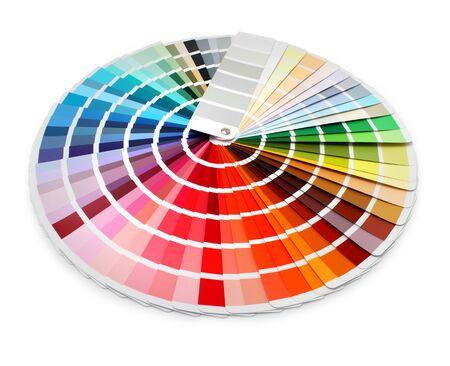 Multi color designer swatch palette guide chart spectrum