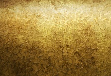 gold texture: Aged golden brocade texture pattern background