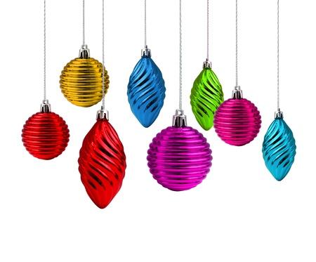 Multi color Christmas decoration set rainbow spectrum Stock Photo - 9989577