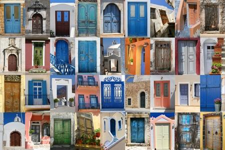 Golorful griego puertas compilaci�n de colecci�n