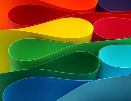 rainbow colors: Color paper variety arc wave form spectrum