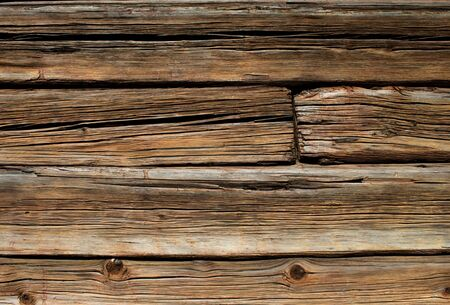 Old brown wooden log house wall detail horizontal Stock Photo - 10399075