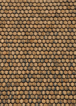 Real wood shingle roof texture surface front view Stock Photo - 10413289