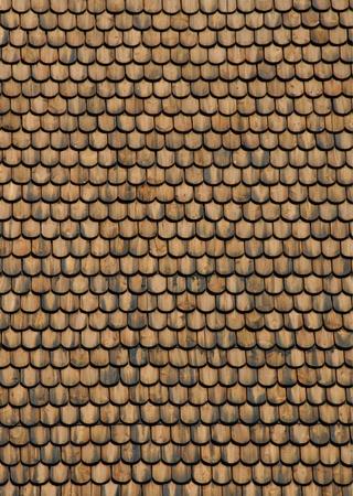shingles: Vista frontal superficie textura de techo madera guijarros