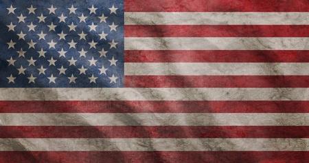 Weathered USA flag grunge rugged condition waving Stock Photo - 10440843