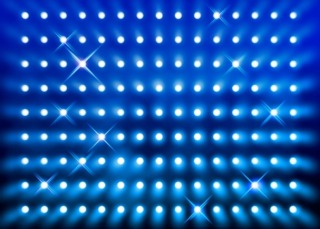 Premier stage presentation sparkling blue spotlight wall background