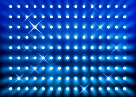 stage lighting: Premier stage presentation sparkling blue spotlight wall background
