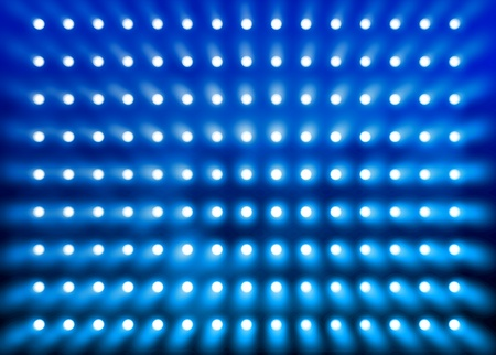 Premier stage presentation blue spotlight wall background