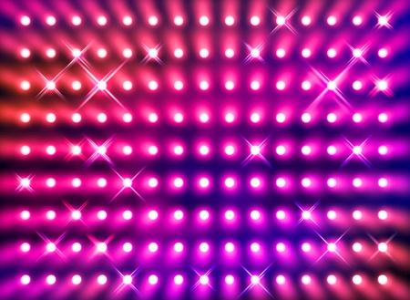 stage lighting: Premier stage presentation sparkling red spotlight wall background Stock Photo