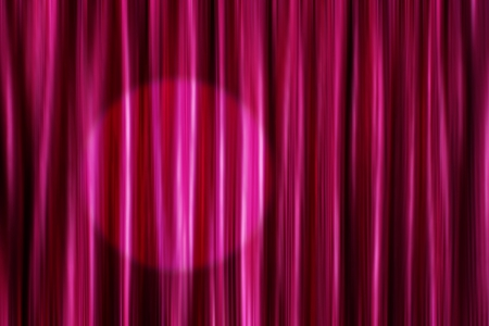 Purple silky satin curtains background with round light spot photo