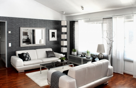 decor: Modern living room interior furniture and decoration