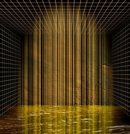 Abstract dungeon cell room background Stock Photo - 11740745