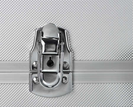 Security concept, steel lock mechanism closed Stock Photo - 11740743