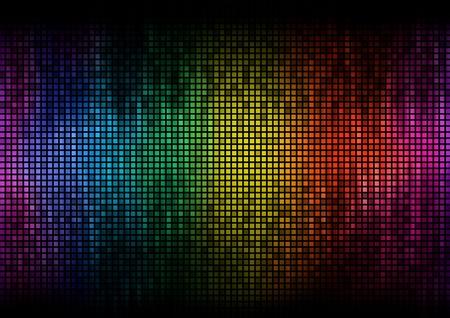Digital equalizer color pixels amplitude level display disco effect photo