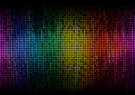 amplitude: Digital equalizer color pixels amplitude level display disco effect Stock Photo