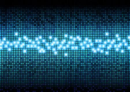Digital color pixels amplitude level display effect