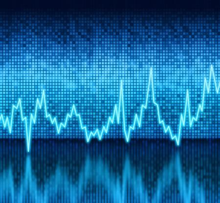 puls: Cyfrowy graficzny wykres siatki impuls wyświetlacz tle refleksyjnej Zdjęcie Seryjne