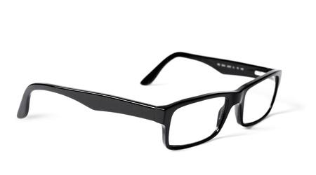 eye wear: Classic black eye glasses isolated on white background