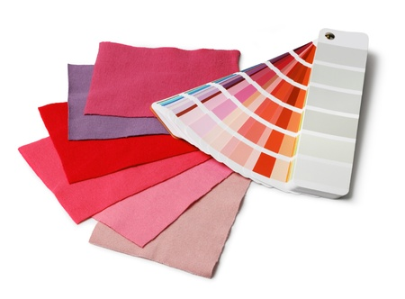 Decoration designer color and fabric swatch samples  Stock Photo