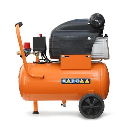 compresor: Presión de aire del compresor de la bomba herramienta aislada Foto de archivo