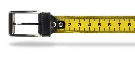 girth: Tape measure buckle belt for weight loss waist girth measurement