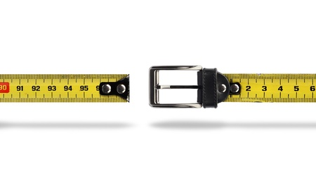 measure tape: Tape measure buckle belt for weight loss waist girth measurement