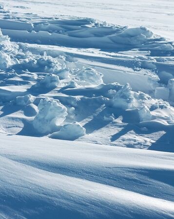 icy conditions: Pure snow formation cold arctic winter weather conditions Stock Photo